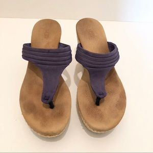Ugg Australia Zamora Purple Thong Wedge Sandal 6